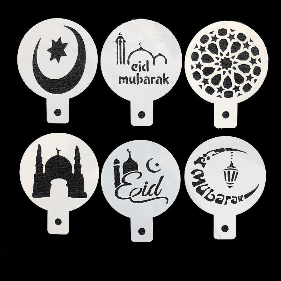 Ramadan Kareem Muslim Lesser Bairam Coffee Latte Art Mode Pastries Decoration Templates Eid Mubarak