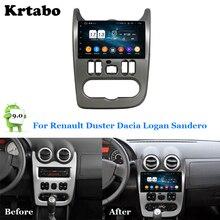 Araba radyo Android multimedya oynatıcı 4G RAM renault duster Dacia Logan Sandero araba dokunmatik ekran GPS desteği Carplay
