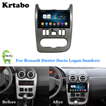 Car radio Android multimedia player 4G RAM For Renault Duster Dacia Logan Sandero Car touch screen GPS Support Carplay