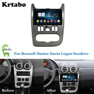 Image 1 - Car radio Android multimedia player 4G RAM For Renault Duster Dacia Logan Sandero Car touch screen GPS Support Carplay