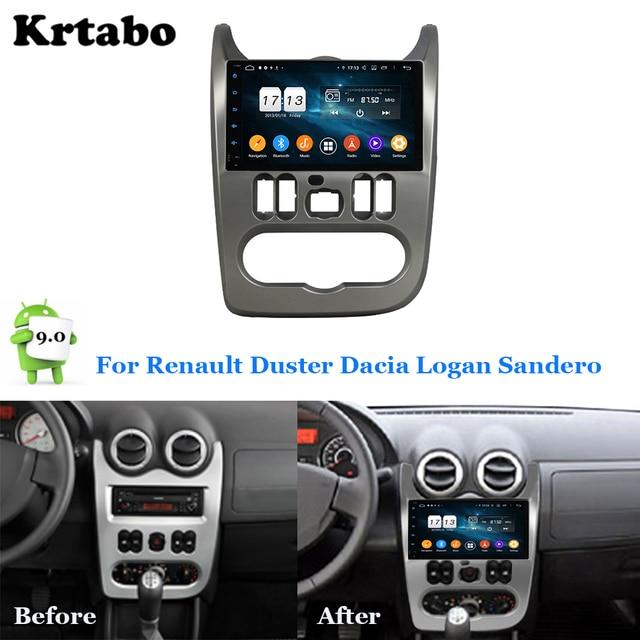 Car radio Android multimedia player 4G RAM For Renault Duster Dacia Logan Sandero Car touch screen GPS Support Carplay
