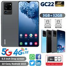 GESCHE GC22 смартфон AI Камера 3 ГБ + 32 ГБ мобильные телефоны 4 аппарат не привязан к оператору сотовой связи Celular 6,5 InchFace признание 4200 мАч Android 10 сото...
