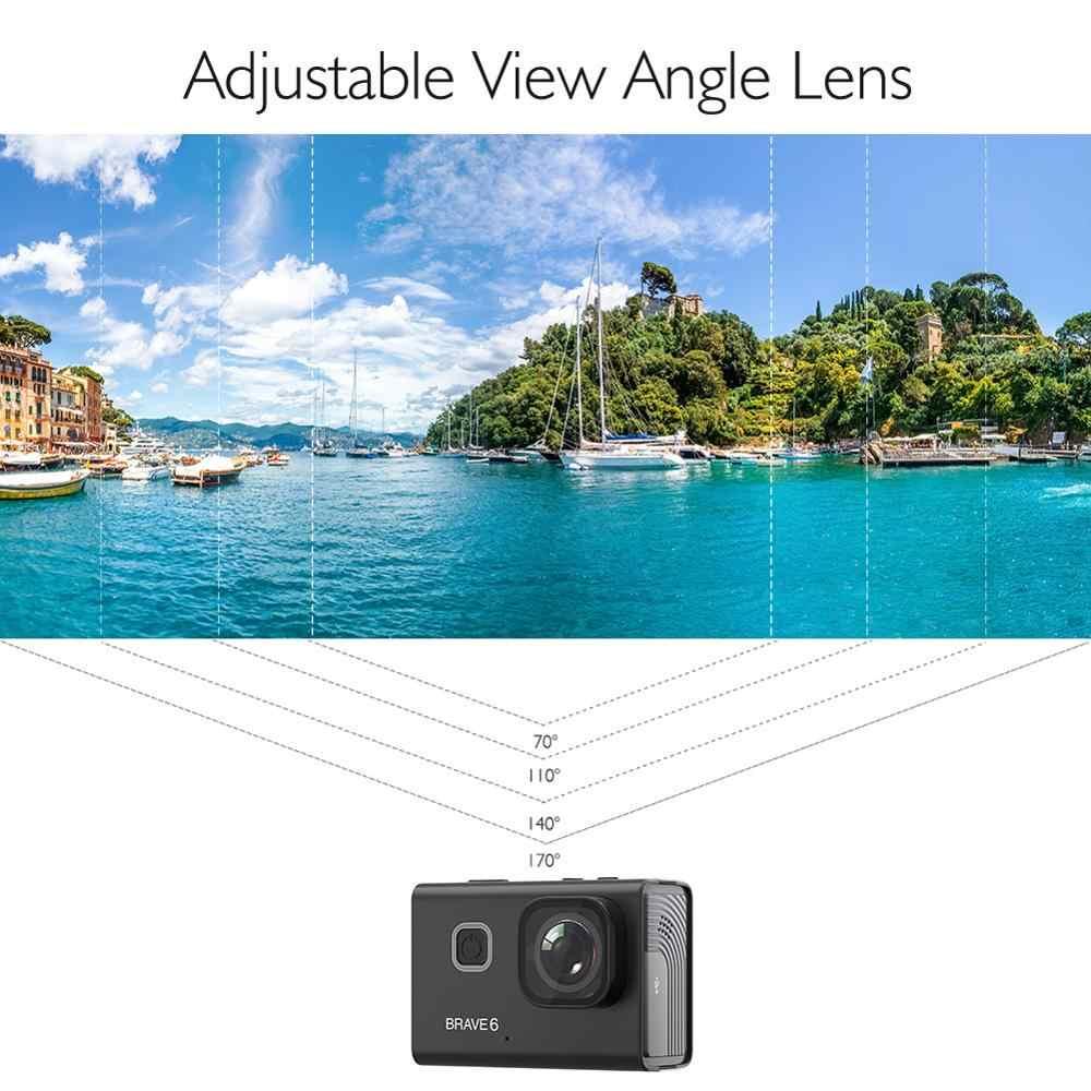 AKASO Dũng Cảm 6 4K 20MP WiFi Camera Hành Động Điều Khiển Giọng Nói EIS 30M Dưới Nước Máy Camera Chống Thấm Nước Điều Khiển Từ Xa 6X zoom Thể Thao Cam