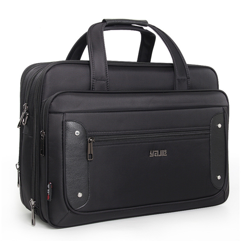 Large Capacity Business Briefcase Laptop Bag  Cloth Multi-Function Waterproof Handbags Casual Portfolios Man Shoulder Bags