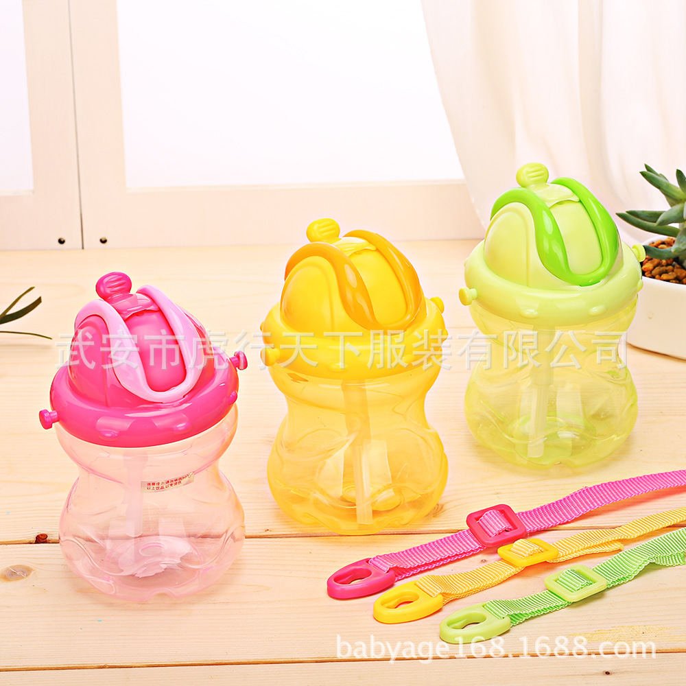 Infant Gourd Type Small Water Bottle Infant Sippy Cup With Suspender Strap Baby Drink Pitcher Training Pitcher