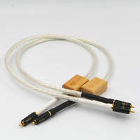 Audiophile ODIN Supreme Reference Interconnect RCA cable Silver plated HIFI Audio cables RCA plug