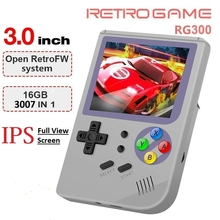 RG 300 Retro Video Games 3.0 inch IPS Portable Handheld Games Console FC Console Retro Game Player Built in 3000 Classic GAMES yoteen portable retro mini handheld game console 4 3 inch 64bit 3000 video games classical family game console retro arcade