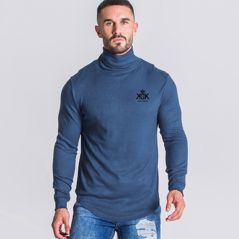 Men Winter Sweaters Thermal Inner Fleece Thickened Solid Color Turtle Neck Male Knitwears Loose Plus Size 3XL