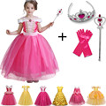 Girls Princess Dress Cosplay Costume Children Winter Christmas Clothing For Kids Beauty and the Beast Costume For Party