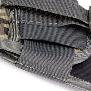 4.5 Inch Molle Bag Tactical Wallet Card Pouch Military Waist Bag Waterproof Card Key Holder With Carabiner For Camping Hunting 6