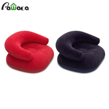 Надувной диван для отдыха складной стул уличная кровать u-тип сапфировый синий ПВХ детский флокирующий стул 91*91*50 см красный, сапфировый синий