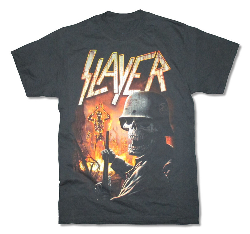 Slayer Torch Tour 2015 Black T-Shirt New Adult Metal Band Music Summer Style Casual Wear Tee Shirt