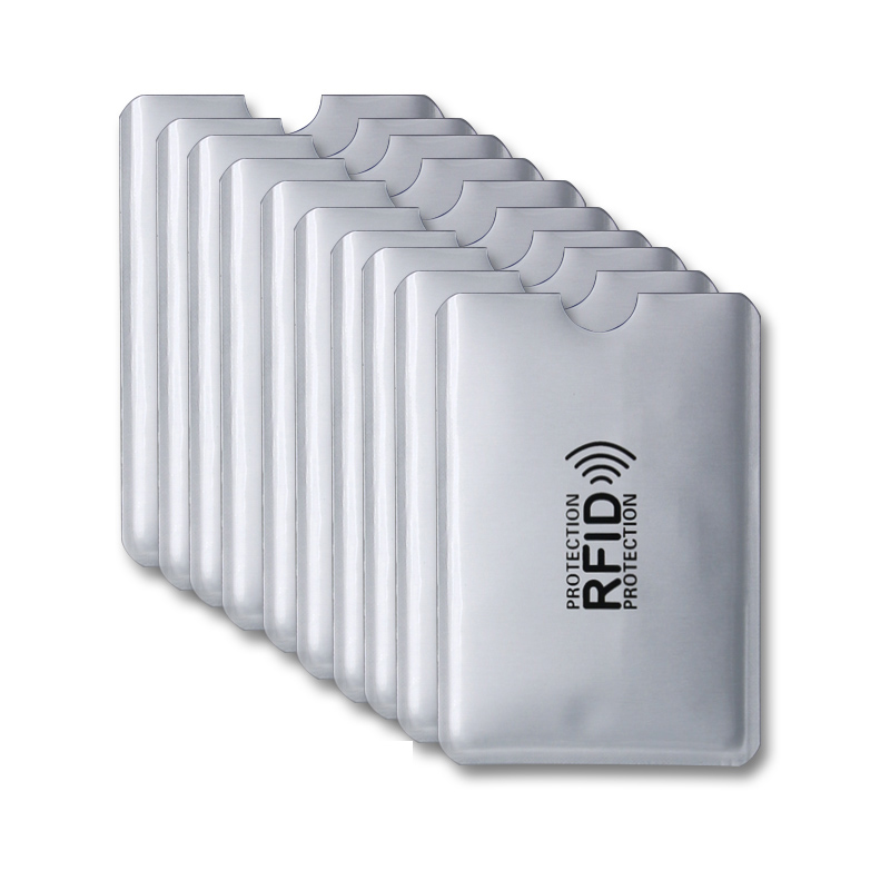 10pcs Aluminium RFID Card Holder Blocking Bank Anti Thief Wallet Protect Case Credit Cards Case Safety Reader Smart Shield New