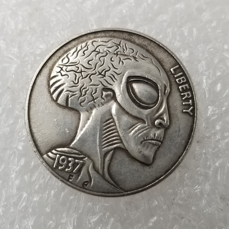 1937 Alien US Nickel One Dollars Copy Coin Morgan Hobo Coins Old Coins For Collection Gift Token Drop Shipping