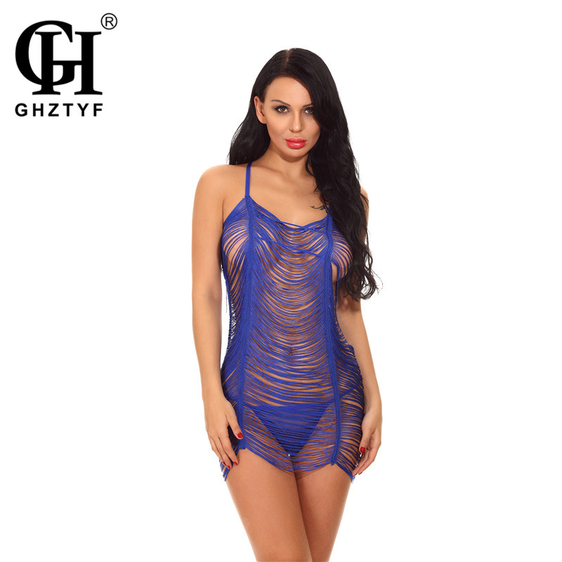 Big Net Hollow Lingerie Babydoll Plus Size XXL Sexy Hot Erotic Porno Underwear Clothes for Women Lace Bodysuit Costumes image