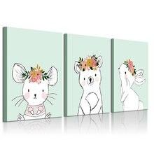 Декор для детской комнаты холст постер Настенная картина мультяшное