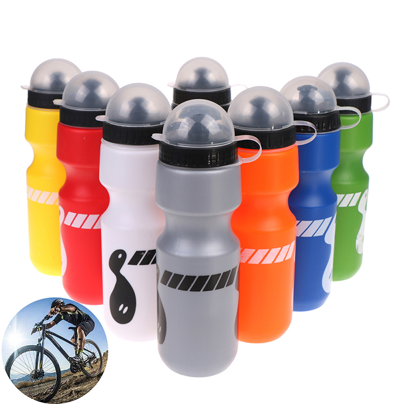 1pc 8 Colors 750ml Water Bottle Outdoor Hiking Bike Bicycle Cycling Travel Drink Jug Dust Proof Lightweight And Portable
