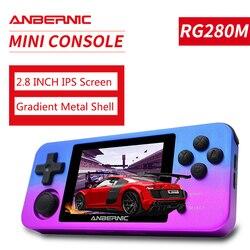 Ретро-игры PS1 ANBERNIC RG350M, алюминиевый корпус, видеоигры, ручная игровая консоль, 2500 игр, RG280M ips, система с открытым исходным кодом RG280