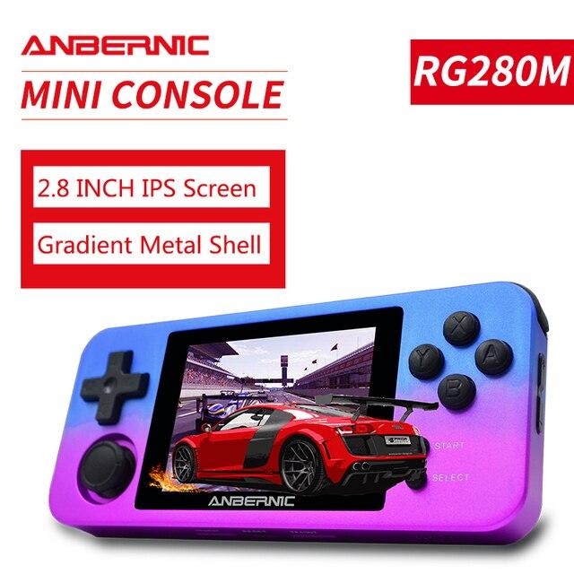 PS1 ANBERNIC RG350M RETRO SPIELE Aluminium shell VIDEO SPIELE Handheld spielkonsole 2500 spiele RG280M IPS open source system RG280