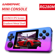 PS1 ANBERNIC RG350M gry RETRO powłoka aluminiowa gry wideo przenośna konsola do gier 2500 gry RG280M IPS open source systemu RG280