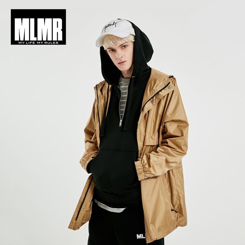 JackJones Men's Hooded Letter Print Mid-length Trench Coat|MLMR Streetwear 219121538