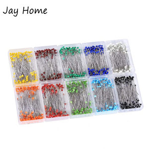 100Pcs Sewing Pins 38mm Glass Ball Head Push Pins Straight Quilting Pins for Dressmaking Jewelry Decor DIY Sewing Tools
