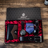 Combine  Luxury Suit 6pes; Watches Belt Necktie Wallet Sunglass