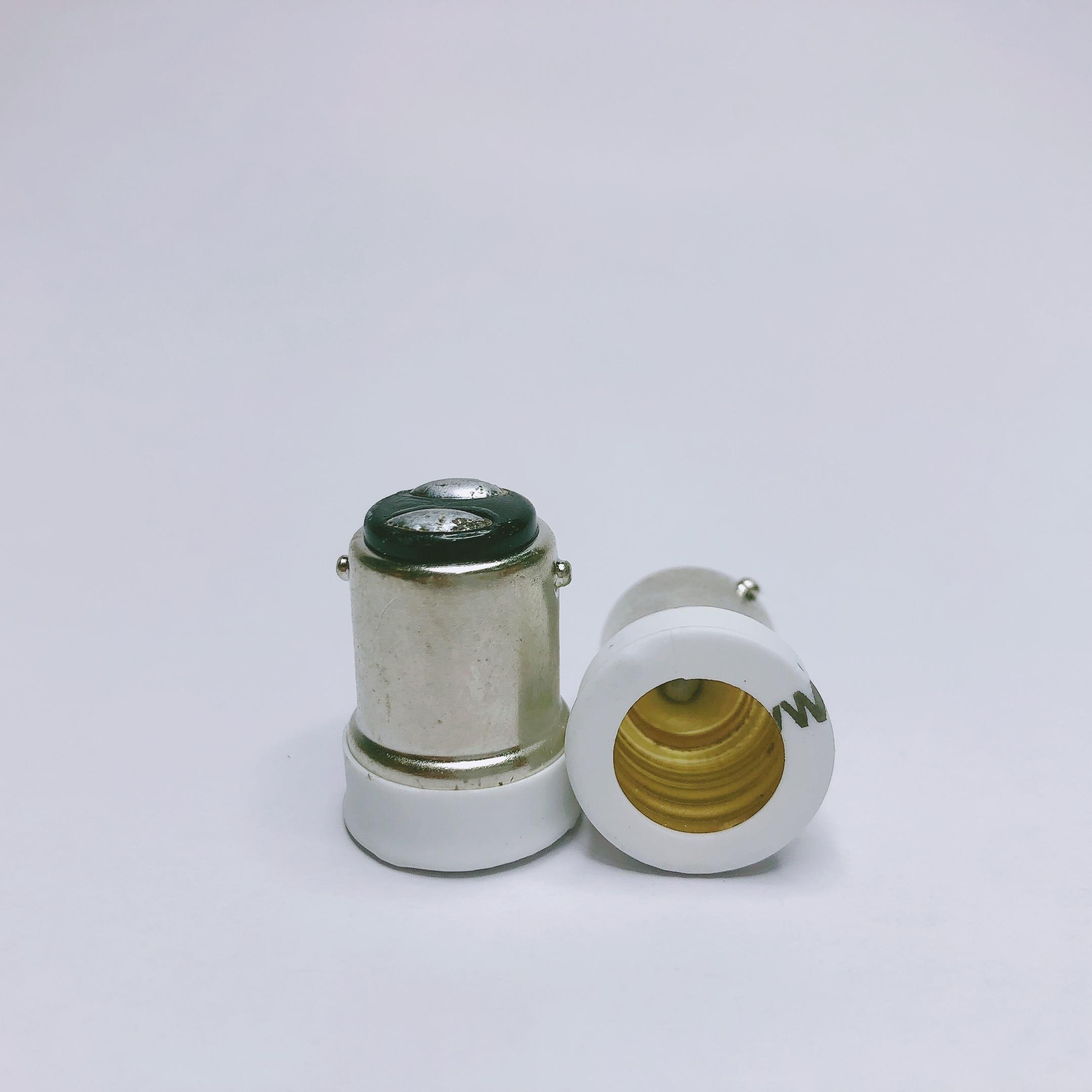 B15 Male to E14 Female Lamp Bulb Socket Light Extender Adaptor Converter Holder Drop Ship Support(China)