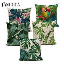 Тропическая наволочка для подушки с растением гостиной скандинавские