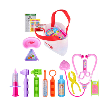 15pcs Toys for Girls Play House Doctor Pretend Play Toy Set Boy Girl Role Playing Simulation See A Doctor for Children Kids king a khaliq play me girl