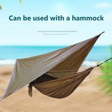 3.6Mx2.9M Sun Shelter Waterproof Canvas Tent Anti UV Shade Beach Outdoor Camping Hammock Rain Fly camping Awning Canopy