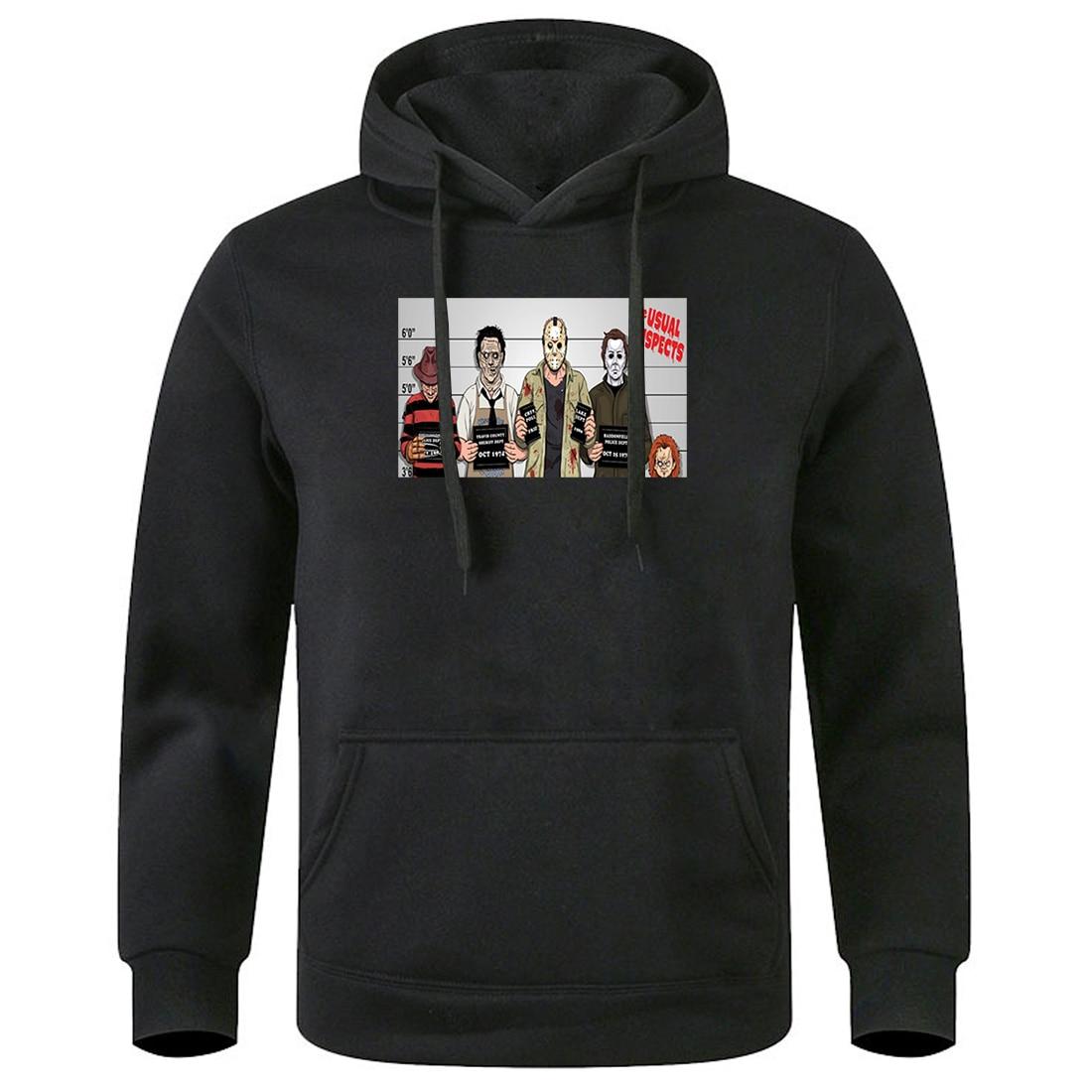 Men The Usual Suspects Hooded Pullovers 2020 Keep Warm Spring Winter Hoodies Streetwear Leisure Sweatshirts Mens Fleece Hoody