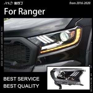 Image 4 - AKD רכב סטיילינג לפורד האוורסט ריינג ר פנסי 2016 2020 תור דינמי אות LED פנס DRL Hid Bi קסנון אביזרי רכב