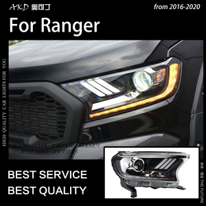 Image 4 - AKD Car Styling for Ford Everest Ranger Headlights 2016 2020 Dynamic Turn Signal LED Headlight DRL Hid Bi Xenon Auto Accessories