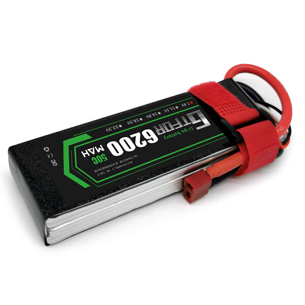 Gtfdr 2 s 7.4 v lipo bateria