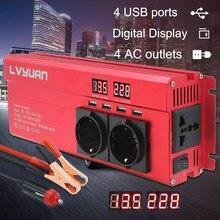 Inversor 12 v 220 v 5000W Inversor De Energia DA UE Plugue 3AC Outlets Outing 4 USB Conversor Inversor Carro Inversor инвертор 12 v 220 v
