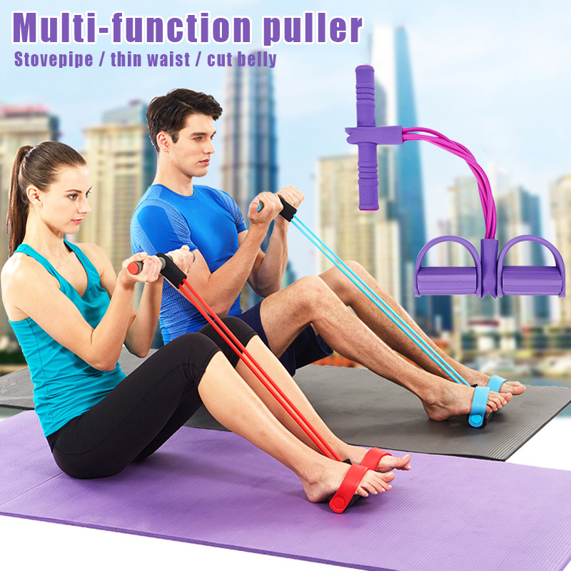Fitness Sit-up Exercise Equipment Band Elastic Pull Rope Multi-Function Tension Rope Puller SAL99