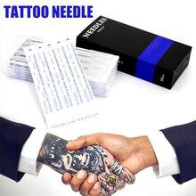 50 шт. одноразовые иглы для татуировки, набор стерилизованных игл для татуировки, картриджи, инструменты для боди-арта M3
