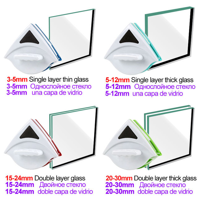 Double Side Magnetic Window Cleaner Brush for Washing Windows Glass Cleaning Household Wash Window Wiper Magnet Glass Cleaner