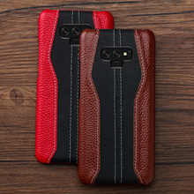 Luxury color matching stitch Genuine Leather Fhx LJ for iphone 11 12 Pro MAX X XS XR phone case for Samsung S9 S10 S20 Plus case