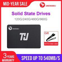 "THU портативный SSD SATA3 2,5 ""120 ГБ 240 ГБ внутренний жесткий диск 480 ГБ 1 ТБ 540 МБ/с./с для ПК, ноутбука, ноутбука"