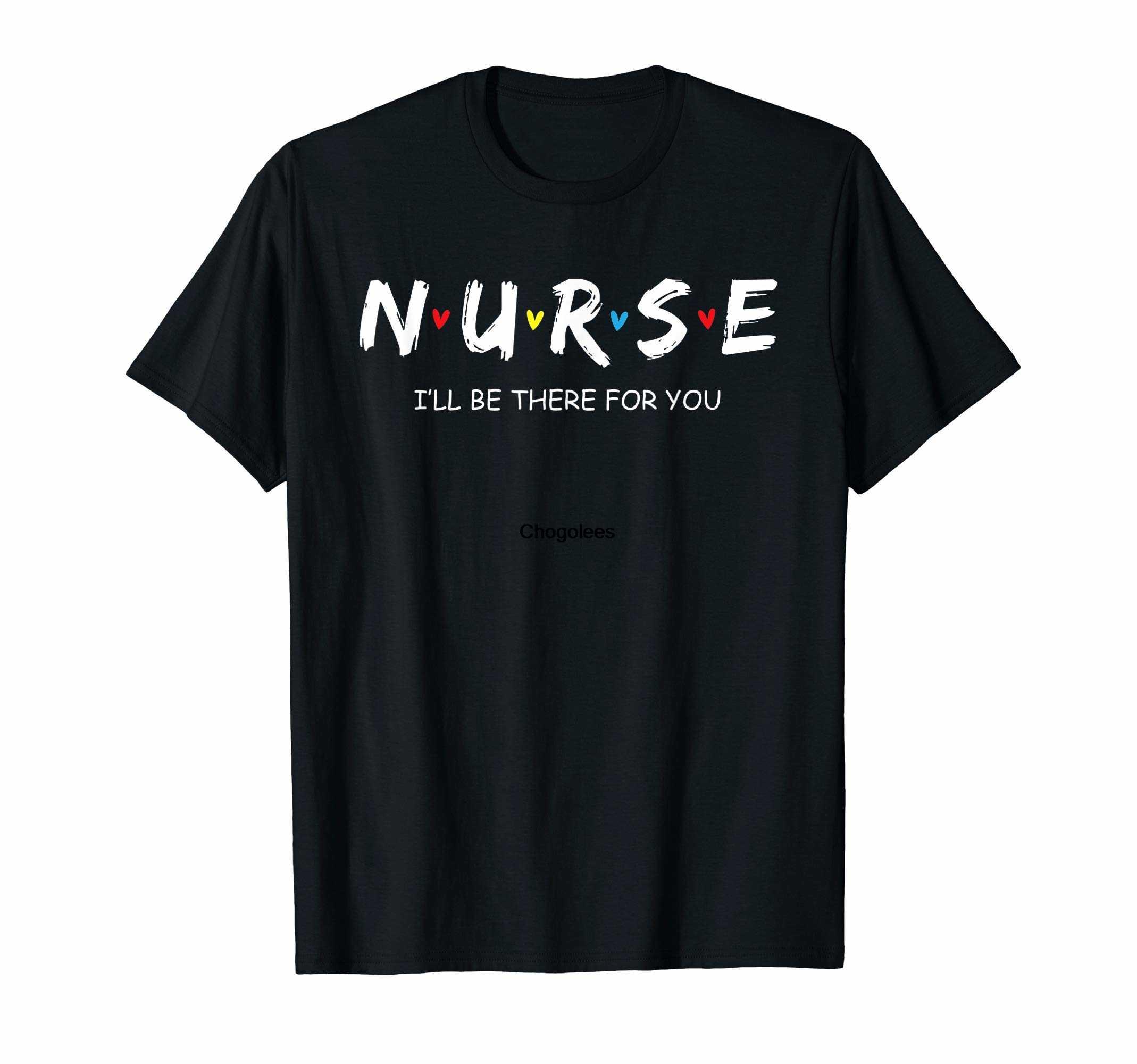 Милая рубашка медсестры, я буду рядом для вас, подарок для футболки RN LPN