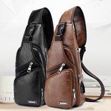 Мужская сумка для зарядки через usb, мужская нагрудная сумка на заказ, сумка через плечо из ПУ, посылка, сумка-мессенджер, дорожная сумка, сумка для путешествий