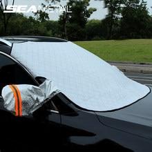Pára-brisa do carro capa de neve magnética capa de carro à prova dwaterproof água auto gelo geada pára-sol protetor automóveis cobertura exterior