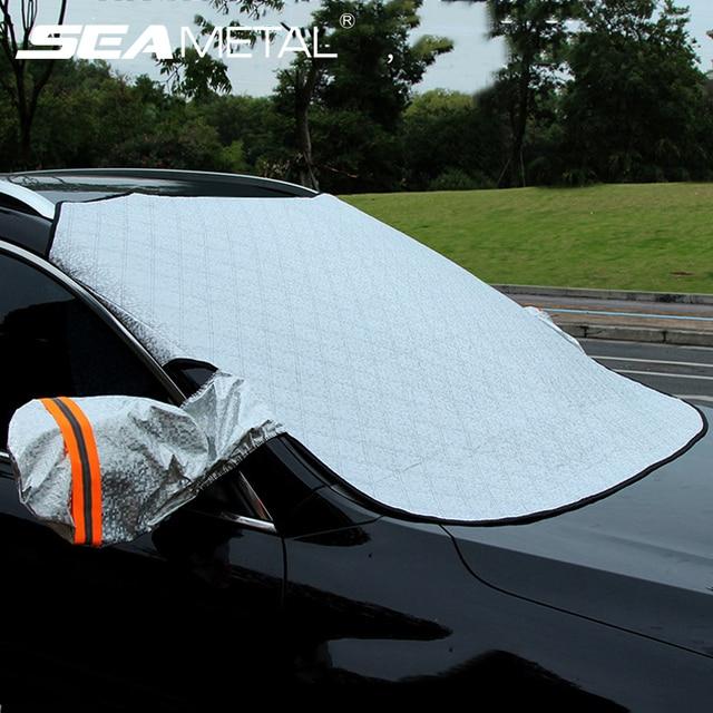 Sombrilla de parabrisas de coche cubierta de nieve cubierta de Coche magnético a prueba de agua Auto Ice Frost Protector de parasol cubierta Exterior de automóvilesParasoles para parabrisas