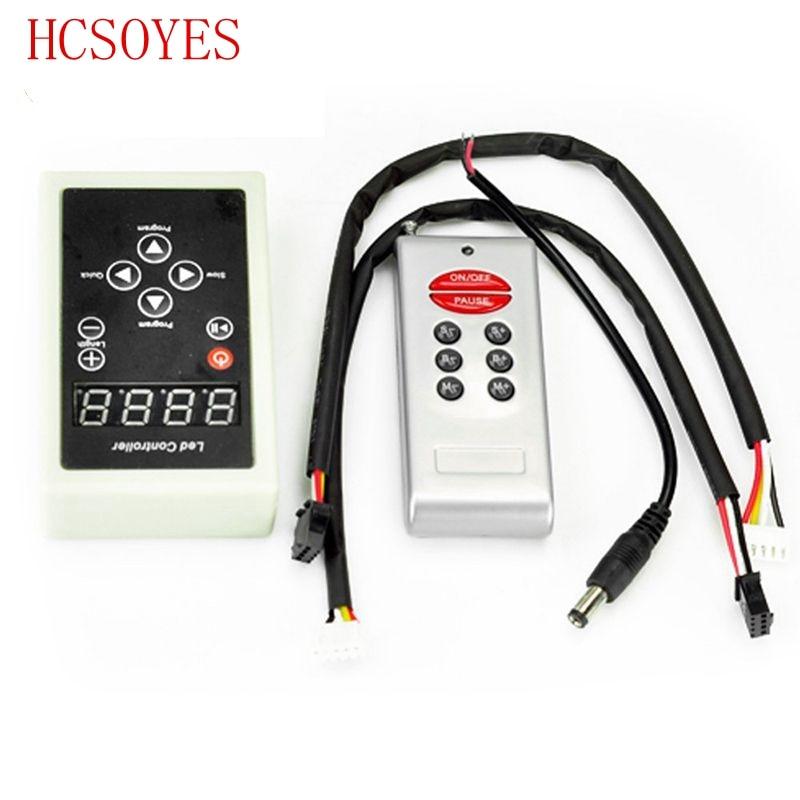 6803 RF Remote Controller 133 Change Digital Dream Magic Color Chasing 6803 Ic 5050 RGB Colorful LED Strip DC12V
