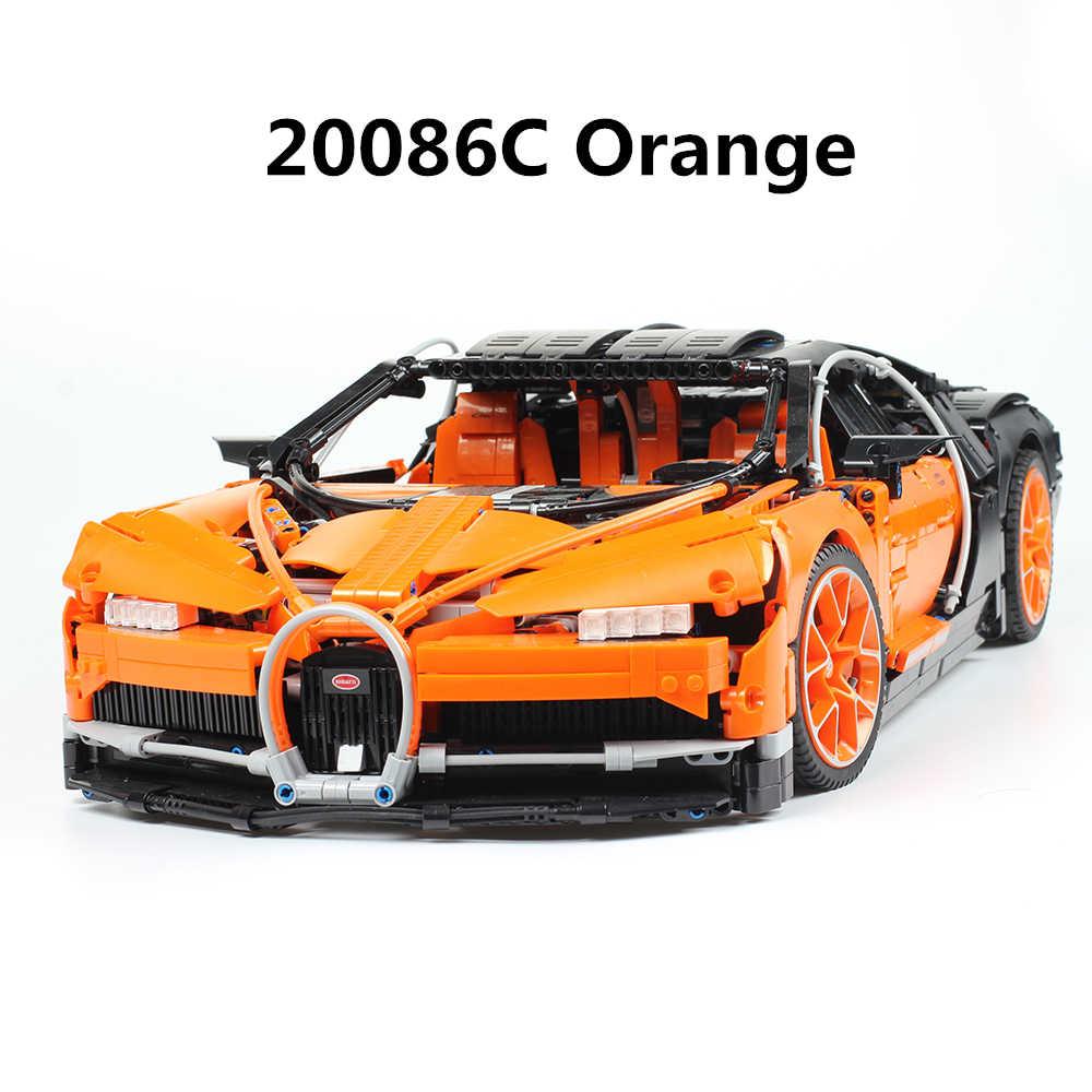 20086 20086B 20086C Technic wyścigu klocki samochodowe kompatybilny Legoing Technic 42083 42056 bugatti Chiron