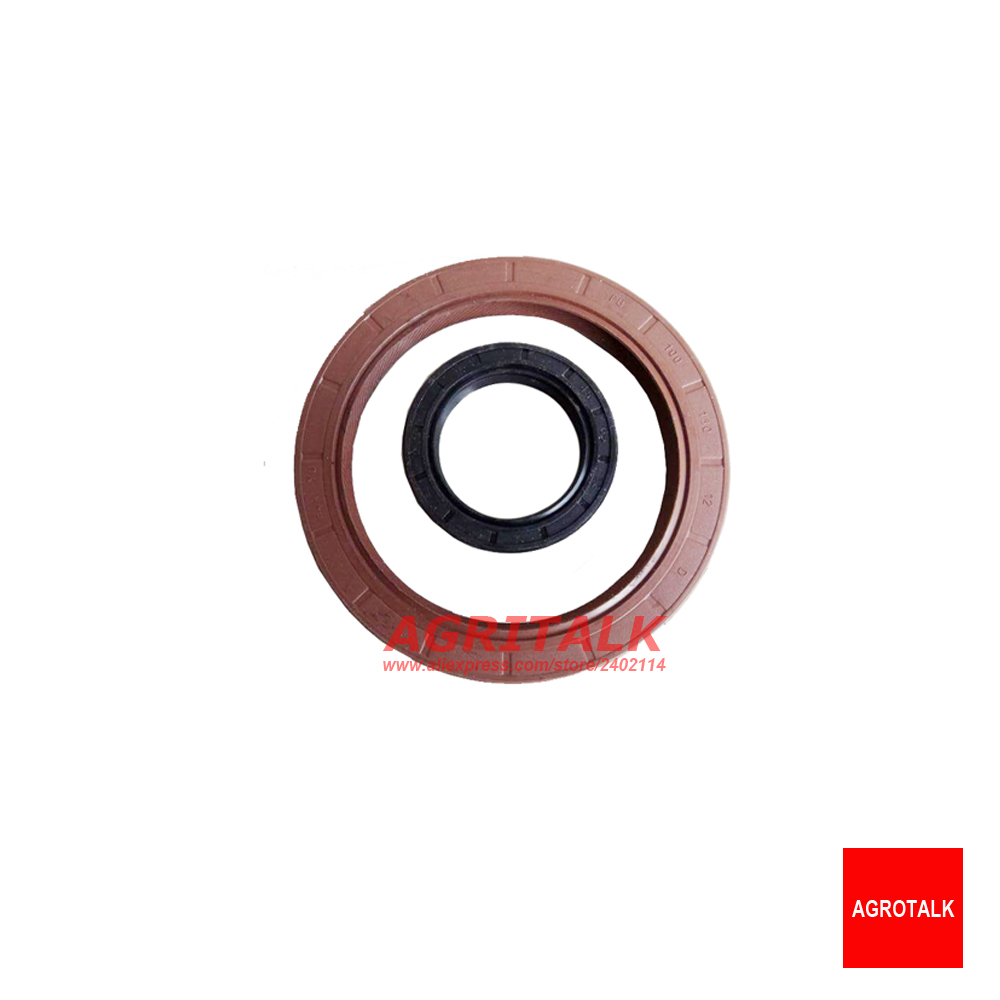 Set Of Oil Seals For Crankshaft (front And Rear) For Shanghai Newholland Engine 495A, Part Number: