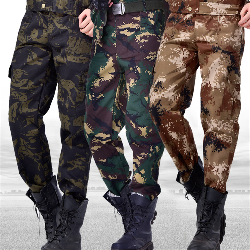 Mens Army Tactical Special Forces Trousers Camouflage Combat Soldier Training Bottoms Military Uniform Work Wear Pant
