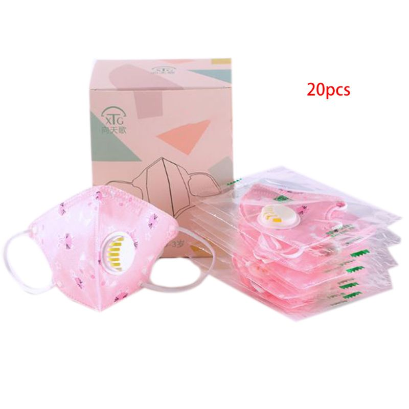 20 Pcs/box Kid Three-dimensional Printing Mask Hanging Ear Type Disposable Masks